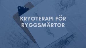 kryoterapi-ryggvärk